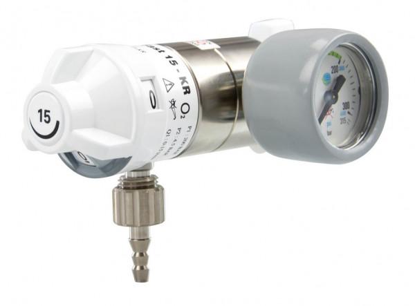 AEROway® FAST 15-KR Sauerstoff Druckminderer | Anschlußseite: Rechts