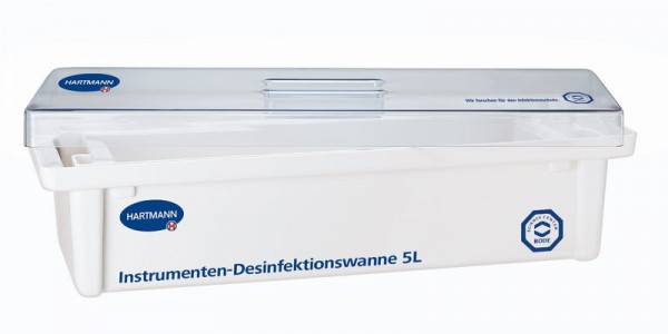 BODE Desinfektionswanne / Instrumentenwanne | 5 Liter | Maße: 55 x 22 x 12 cm