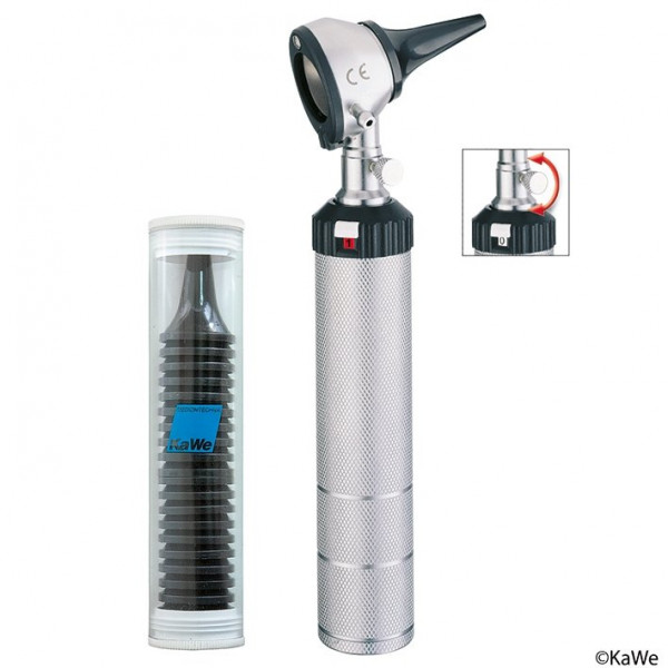 KaWe EUROLIGHT® C10 Otoskop | 2,5 V Warmlicht | Griff: C | mit Tasche