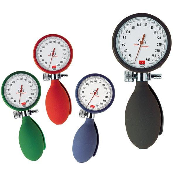 BOSO clinicus I Blutdruckmessgerät Ø 60 mm - mit Klettmanschette - Einschlauch - Farbe: Schwarz