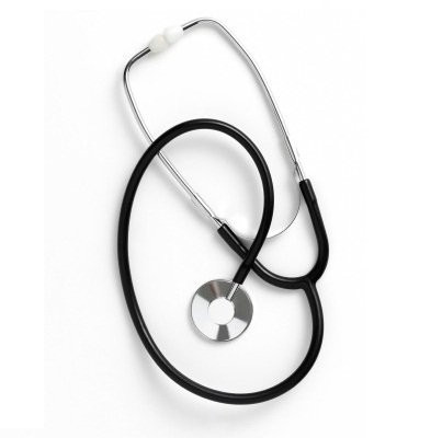 MeierMed Standard Schwestern Stethoskop für Erwachsene - Farbe: Schwarz
