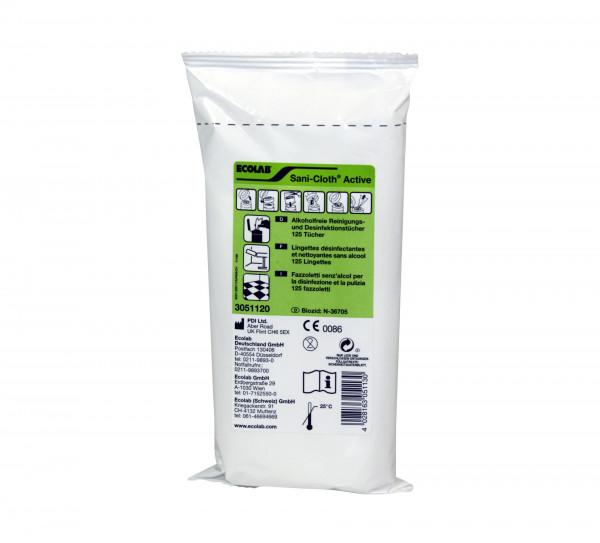 ECOLAB Sani-Cloth™ Active | Nachfüllpack mit 125 Tücher