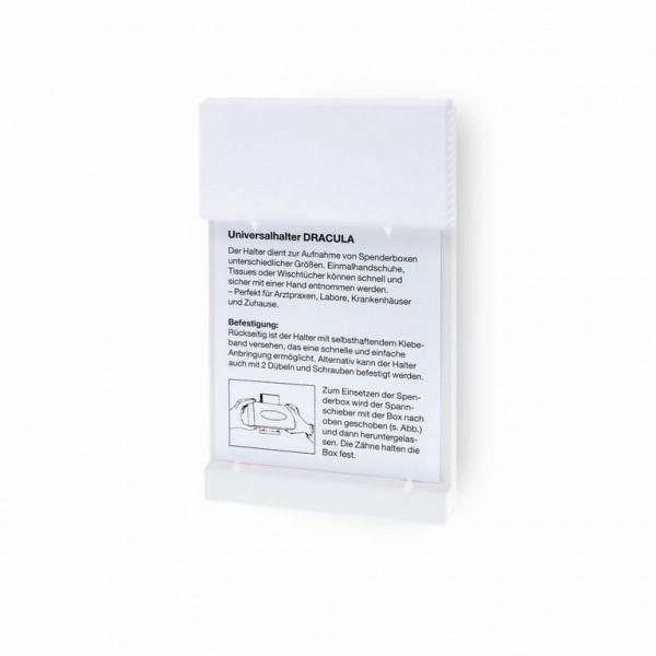 Meditrade® Wandhalter für Handschuhe Dracula | Kunststoff | Farbe: Weiß