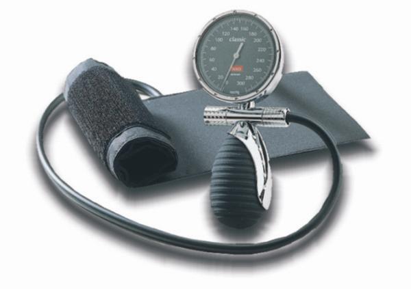 BOSO classic Blutdruckmessgerät Ø 60 mm - mit Klettmanschette - 2 in 1 Schlauchtechnik