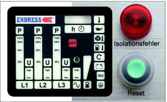 ENDRESS® Isolationsüberwachung für DIN-Stromerzeuger