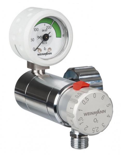 Weinmann OXYWAY Fast III Sauerstoff Druckminderer   Anschlussbolzen: 80 mm