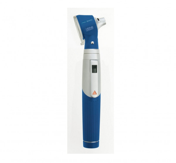 HEINE mini 3000® Otoskop mit Einweg-Tips   XHL Xenon Halogen   Farbe: Blau