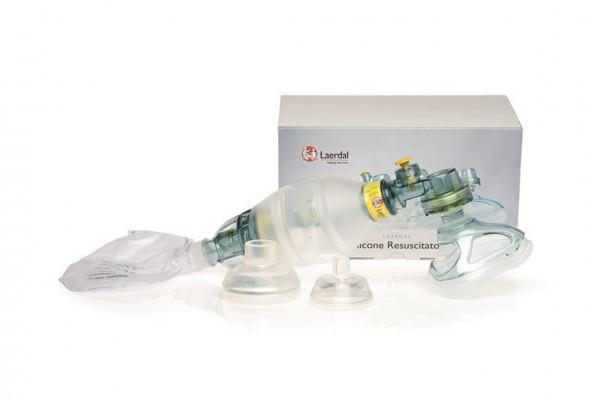 Laerdal® Silikon Beatmungsbeutel inkl. Maske Gr. 0/1, Gr. 2 und Gr. 3/4 | Kinder