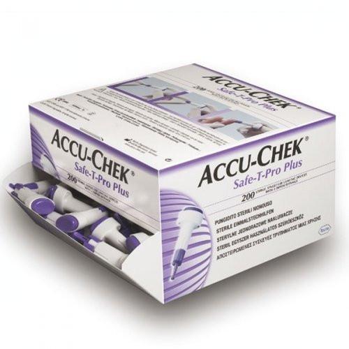 ROCHE Accu-Chek® Safe-T-Pro Plus Stechhilfe - Packung mit 200 Stück