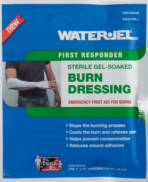 Water Jel® HA First Responder Kompresse | steril | 10 cm x 40,5 cm