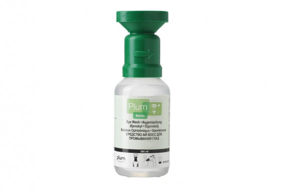 PLUM Augenspülflasche - Natrium-Chloridlösung (0,9 %) - 200 ml Flasche
