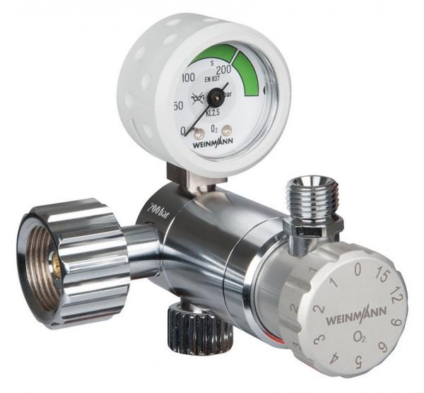 Weinmann OXYWAY Fast II High Flow Sauerstoff Druckminderer | Anschlussbolzen: 30 mm