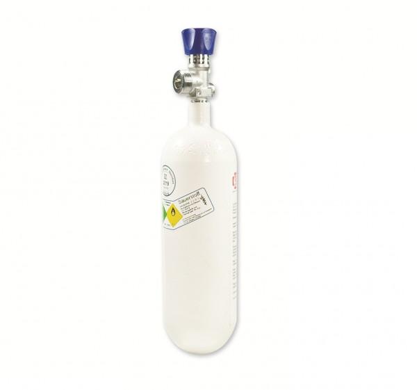 MeierMed Sauerstoff-Flasche O2 gefüllt mit Restdruckventil - Größe: 1 Liter