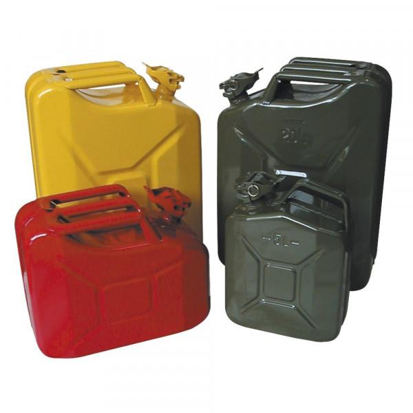 MeierTec Stahlblech-Benzinkanister - 20 Liter - Farbe: Oliv