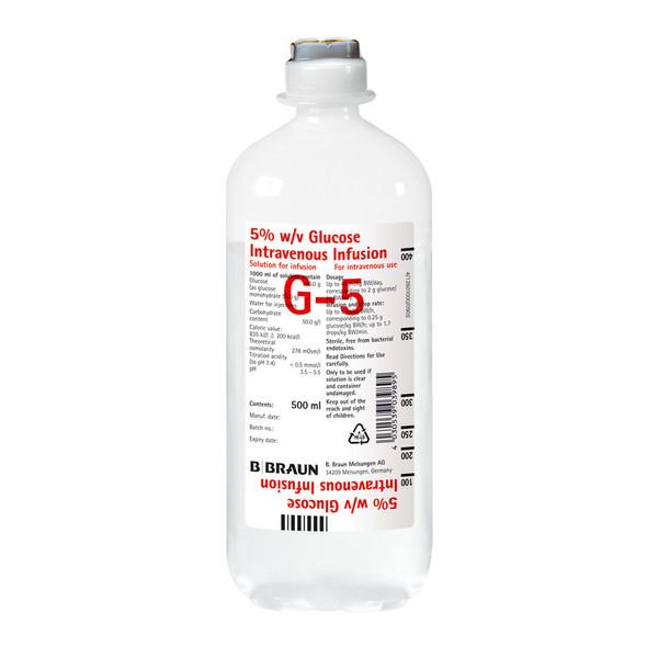 B. Braun Ecoflac® Glucosteril 5% - 10 x 500 ml Flasche