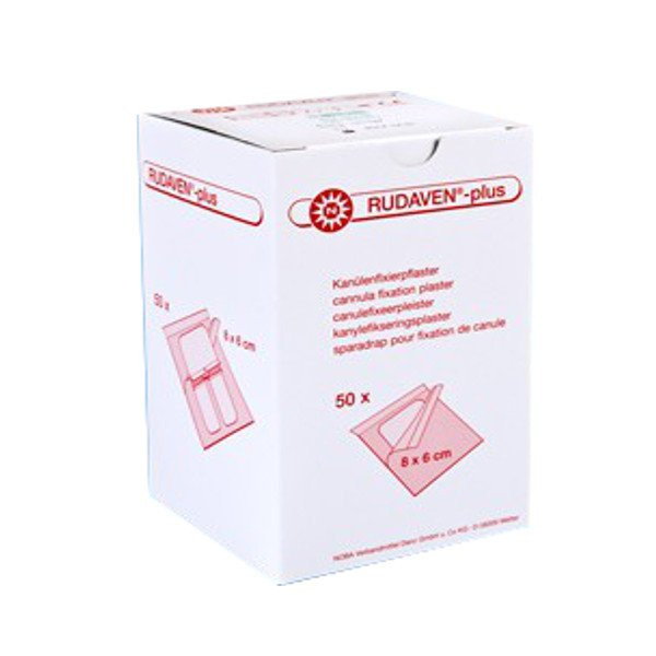 NOBA Rudaven®-plus Kanülenpflaster / Kanülenfixierpflaster | Packung á 50 Stück