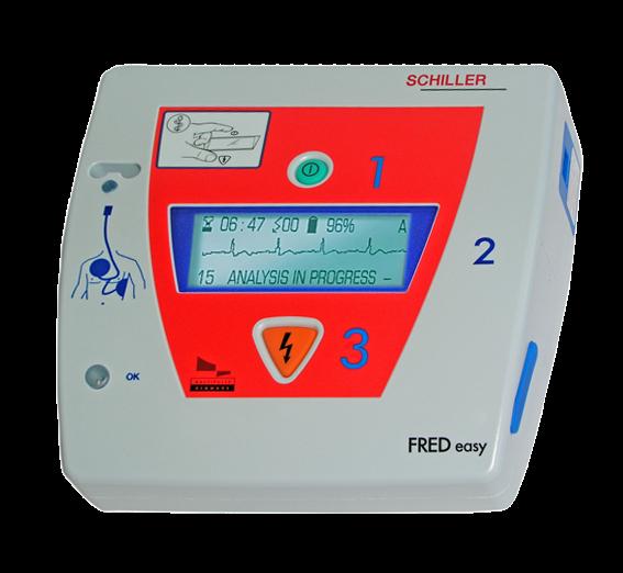 SCHILLER® AED FRED easy - manuell - EKG Anzeige