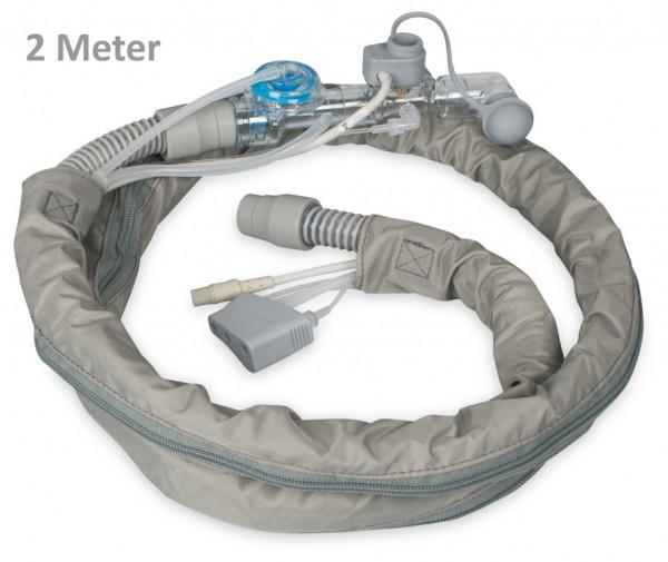 Weinmann Beatmungsschlauch MEDUMAT Transport mit CO2 & BiCheck | Mehrweg | Länge: 2 Meter