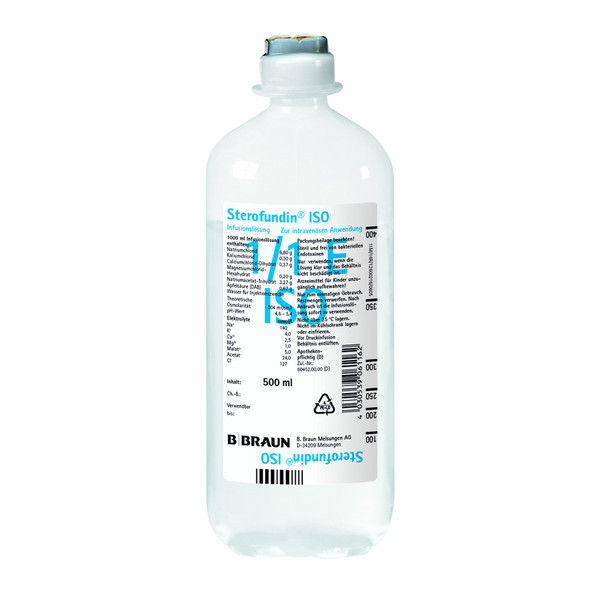 B. Braun Ecoflac® Sterofundin® ISO Infusionslösung - 10 x 500 ml Flasche