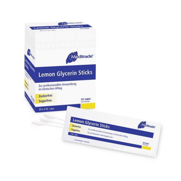 Meditrade® BeeSana® Lemon Glycerin Stick / Swabs   Packung á 25 x 3 Stück