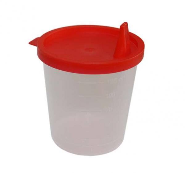 MeierMed Urinbecher mit Deckel - Packung á 100 Stück