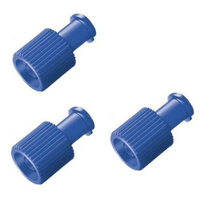 ASID BONZ Kombi-Stopfen / Verschlusskappen | Farbe: Blau | Packung á 100 Stück