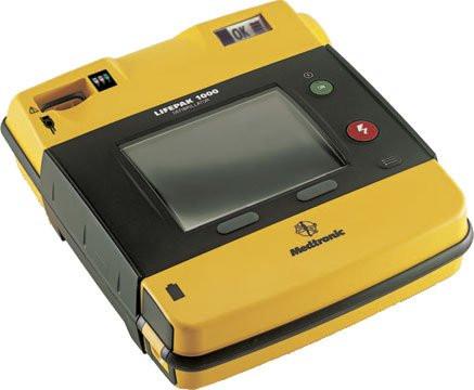 Physio-Control® LIFEPAK® AED 1000 SE mit EKG-Ansicht und 3-poligen EKG-Kabel