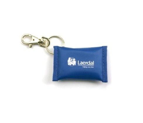 Laerdal® Face Shield Notfallbeatmungstuch mit Schlüsselanhänger | Farbe: Blau