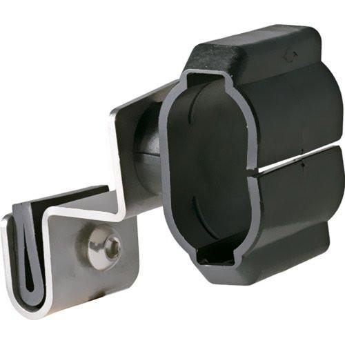 UK-Lights® Edelstahl Helmhalterung für Halbschalenhelme nach DIN 14940