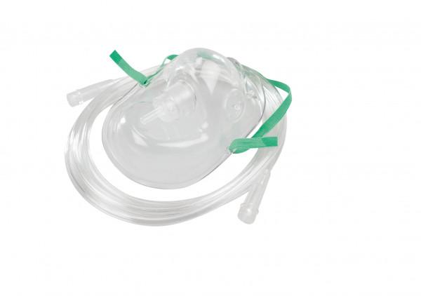 AEROpart® O2-Maske / Sauerstoffmaske mit 200 cm Sicherheitsschlauch für Erwachsene