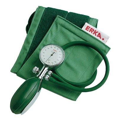 ERKA Perfect Aneroid Blutdruckmessgerät - 2-Schlauch mit Hakenmanschette grün