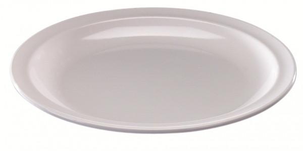 MeierMed Teller Flach - groß - Farbe: Weiß - Material: Melamin
