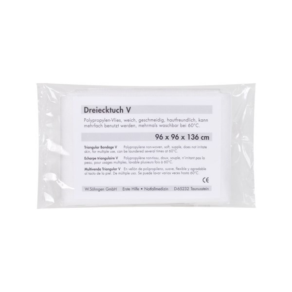 SÖHNGEN® Dreiecktuch aus Vliesstoff nach DIN 13168-D | Farbe: Weiß