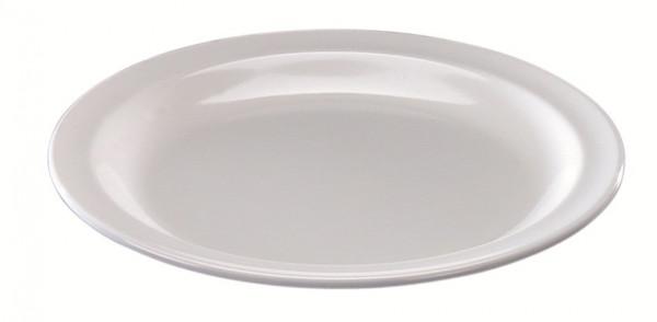 MeierMed Teller Flach - Klein - Farbe: Weiß - Material: Melamin