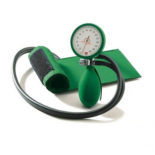 BOSO clinicus II Blutdruckmessgerät Ø 60 mm - mit Klettmanschette - Zweischlauch - Farbe: Grün