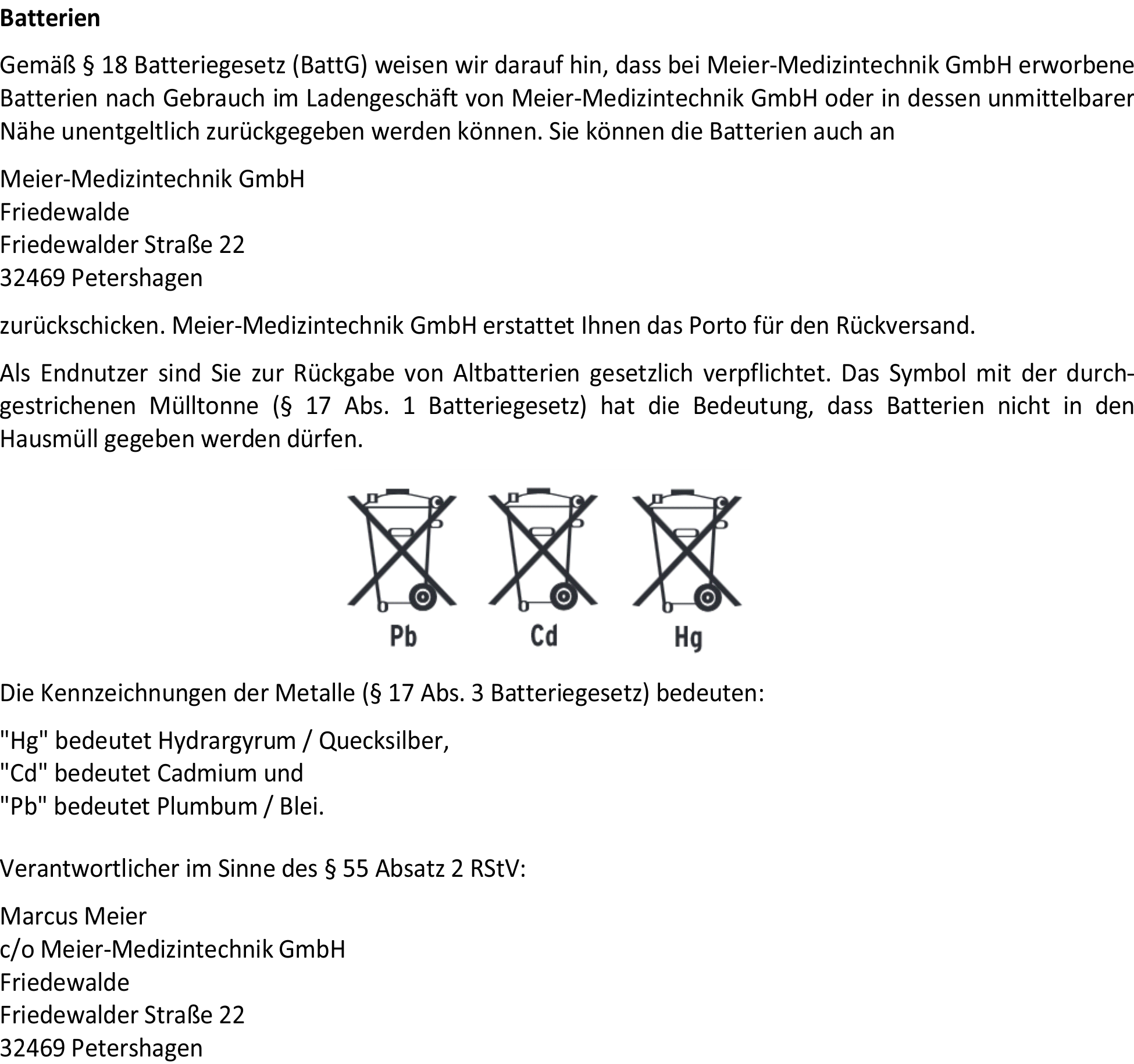 Batterier-ckgabe