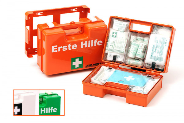 LEINA WERKE Erste-Hilfe-Koffer | SAN | mit Wandhalterung | ohne Inhalt | Farbauswahl