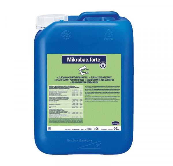 BODE Mikrobac® forte Flächen-Desinfektionsreiniger | 5 Liter Kanister