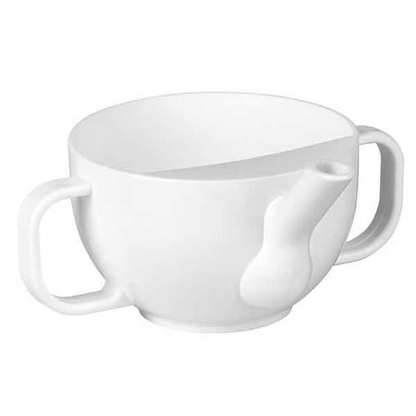 ServoCare® Schnabeltasse mit 2 Henkeln | Farbe: Weiß