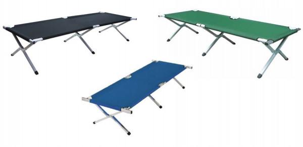 MeierMed Feldbett aus Aluminium - Maße: 210 x 72 x 45 cm - Importqualität - Belastbarkeit: 150 kg
