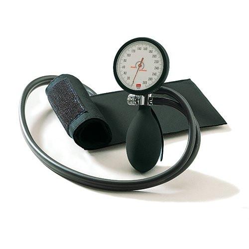 BOSO clinicus II Blutdruckmessgerät Ø 60 mm - mit Klettmanschette - Zweischlauch - Farbe: Schwarz