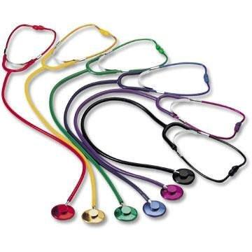 MeierMed Standard Schwestern Stethoskop für Erwachsene - Farbe: Rot